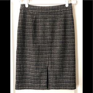Trina Turk Black & White Tweed Pencil Skirt